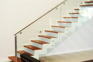 escada com vidro e inox - Escadas MV